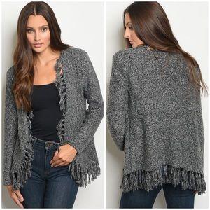 Sweaters - OSFM Charcoal Cardigan